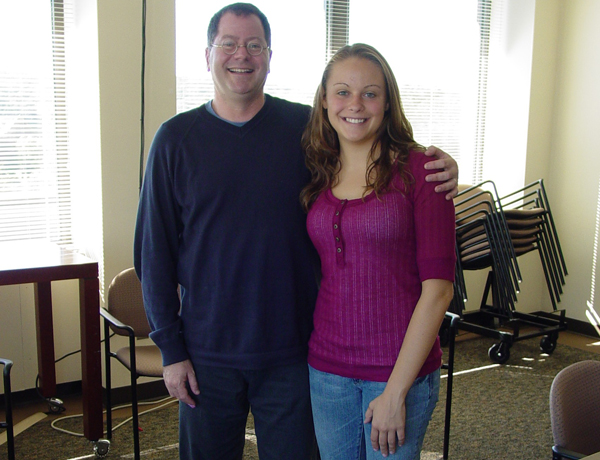 Emily Mischel, 2010 Hilldale Award recipient, with Seth Pollak.