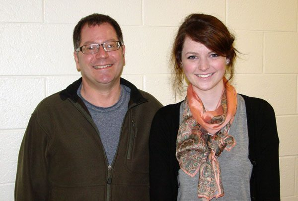 Erin Long, 2011 Hilldale Award recipient, with Seth Pollak