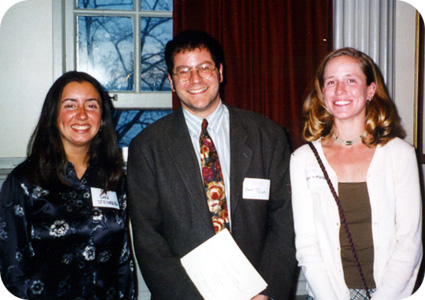 Sara Steinberg, Seth Pollak, and Alison Wismer Fries at the 1998 Hilldale Award Ceremony