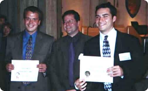 Justin Martin, Seth Pollak, and Mike Messner at