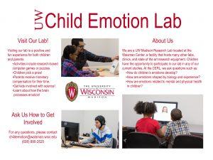 UW Child Emotion Lab Outreach Poster