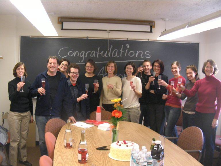 Celebrating the dissertation defense of Alison Wismer Fries